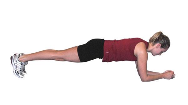 The Standard Straight Leg Plank