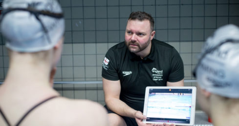 ASA Coaching Certificates page - swimming coach with athletes