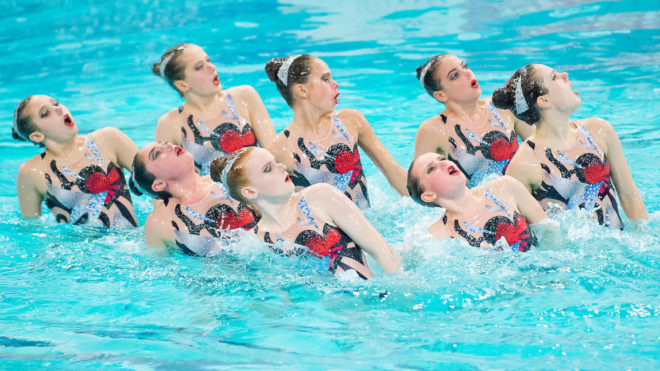 Reach one of the Synchronised Swimming Performance Programmes
