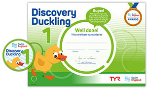 Swim England Discovery Duckling Certificate and badge