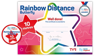 Swim England Rainbow Distance Award
