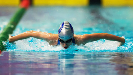 Charlotte Wynne-Jones seals butterfly gold on day two