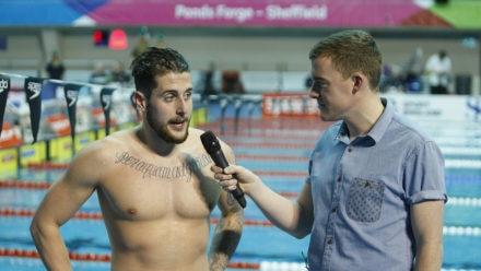 Chris Walker-Hebborn takes gold in 50m Backstroke