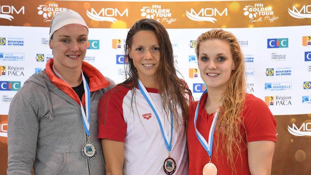 Ellie Faulkner bronze 400m Free FFN Golden Tour Marseille