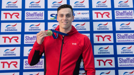 Gold for James Guy in 400m Freestyle