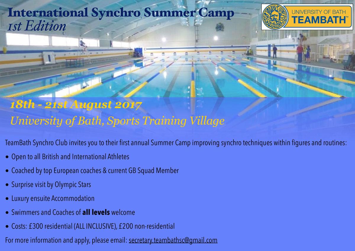Team Bath Synchro Summer Camp 2017