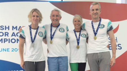 Mike Hodgson stars with hat-trick of golds in third session