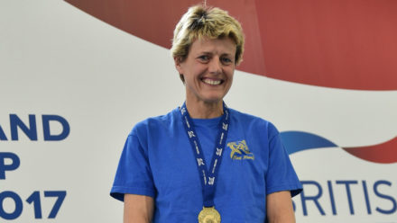 European champ Karen Graham lowers own British record