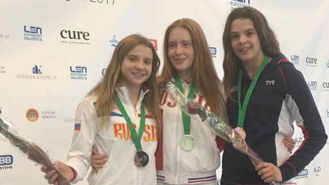 Louise Bradley claims first European Junior medal