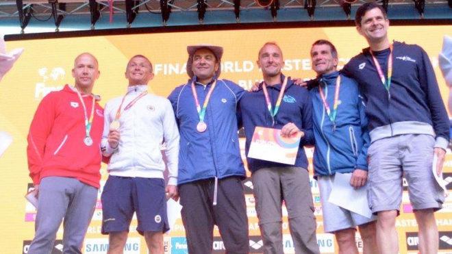 Greg Kahn lands fifth medal of World Masters