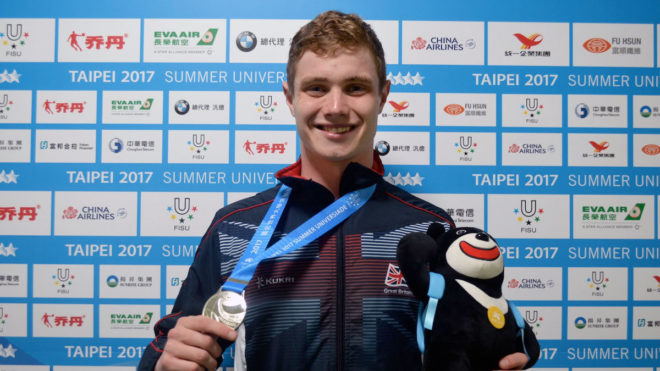 Jay Lelliott wins 400m Freestyle silver at 2017 Universiade
