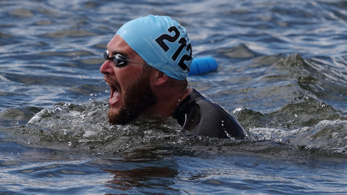 Image of a swimmer at the National Open Water Festival 2017