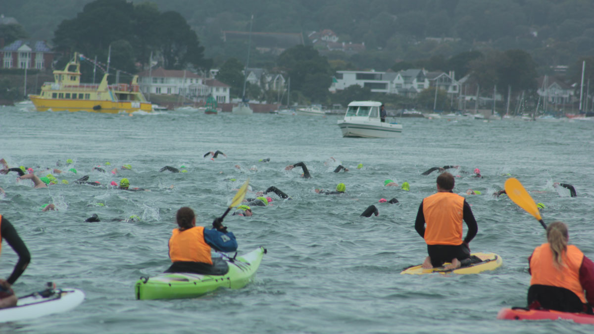 Open water swimming scene. used for Claire Thorn's open water exploits blog