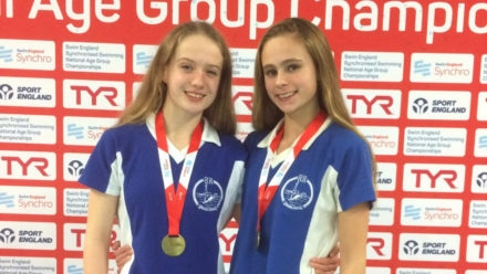 Gray and Basinger win 13-15yrs Duet gold at NAG Champs