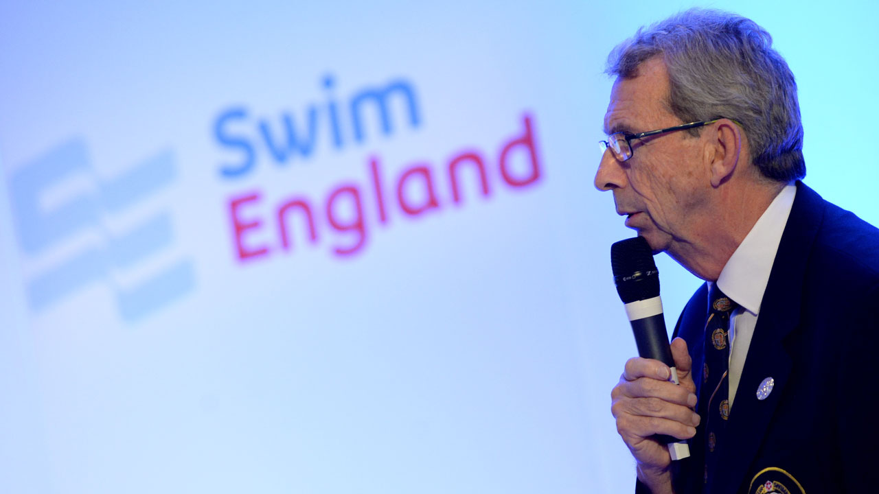 Ian MacKenzie speaking at the Amateur Swimming Association Annual Council.