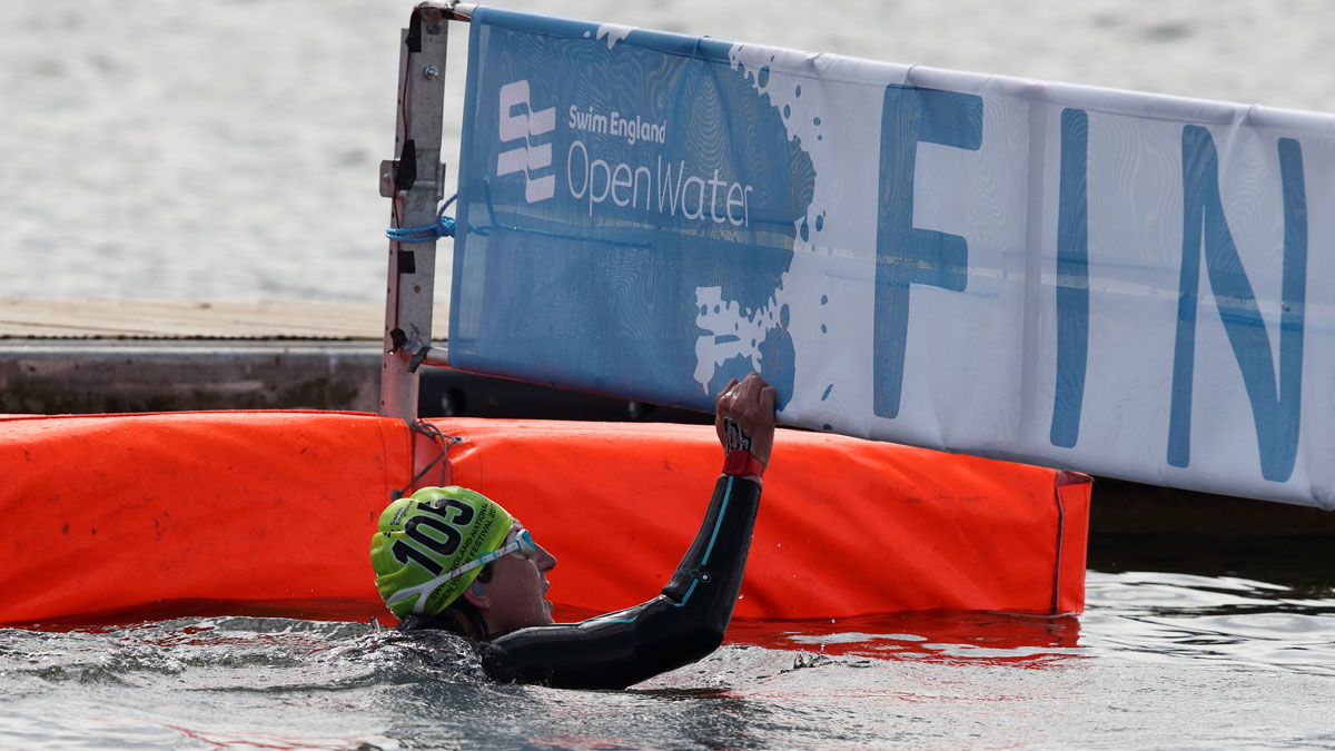 Swimmer at the Swim England Open Water Festival in Rother Valley.