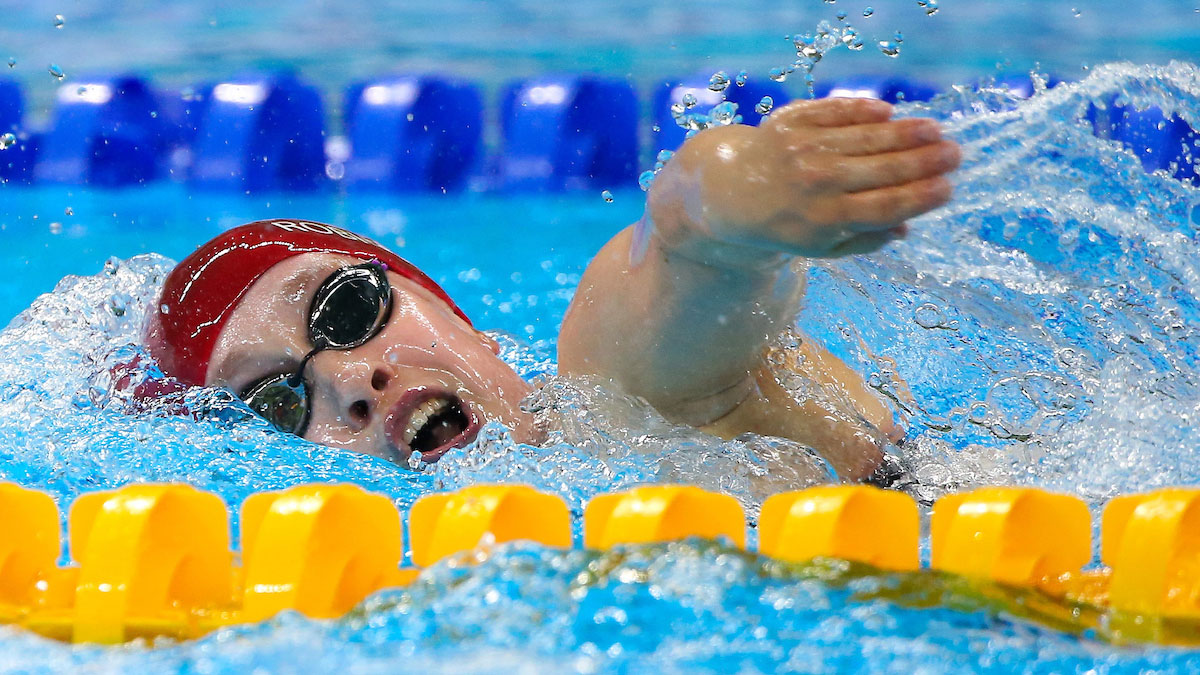 Robinson leads record charge in opening session of National Short Course Champs