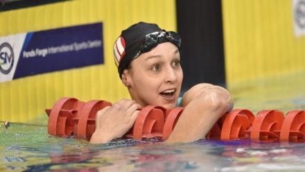 Chloe Golding wins 200m Backstroke title on day four