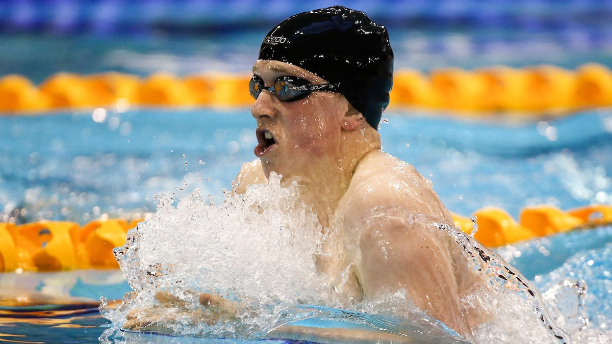 Joe Litchfield competes in the 400m IM at British Champs in Glasgow