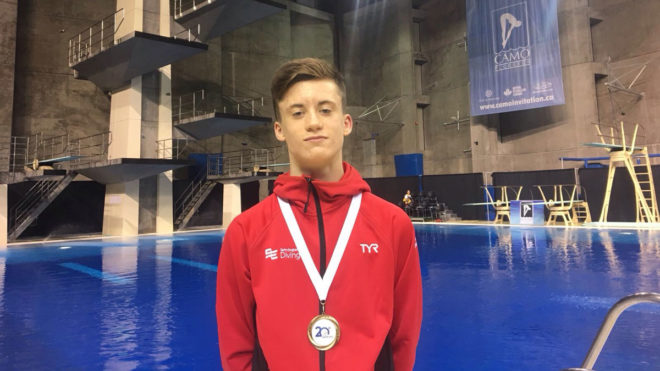 Owen Harrison wins Platform gold in Montreal