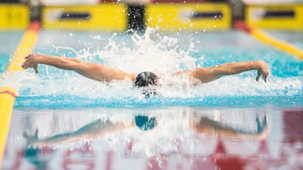 Jacob Peters shows promise in 100m Fly heats
