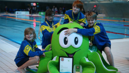 Hundreds of children compete at Panathlon swim event