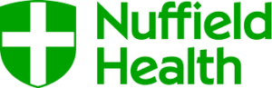 Nuffield Health logo. Used for swimming teacher training courses run by Nuffield Heath at Catterick Leisure Centre.