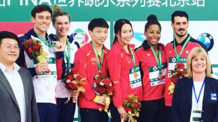 Daley and Reid win World Series silver in Beijing