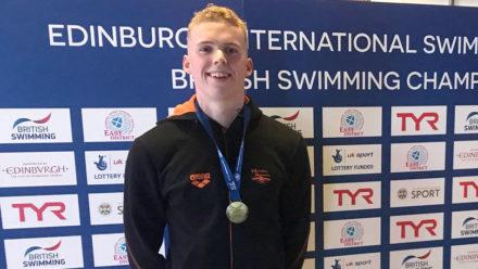 Lewis Burras wins British 100m Free title in Edinburgh