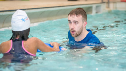 How you can help swimmers with a visual impairment