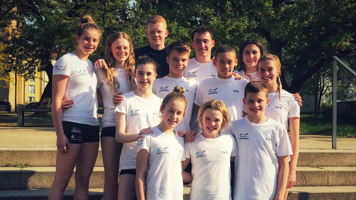 British junior divers at the Dresden Youth International Meet 2018