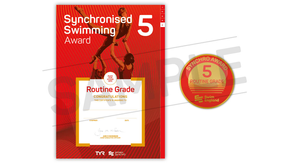 Swim England Synchronised Swimming Routine Grade Awards