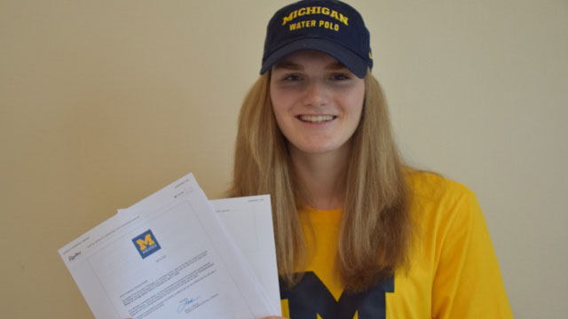 Sophie Jackson signs for University of Michigan