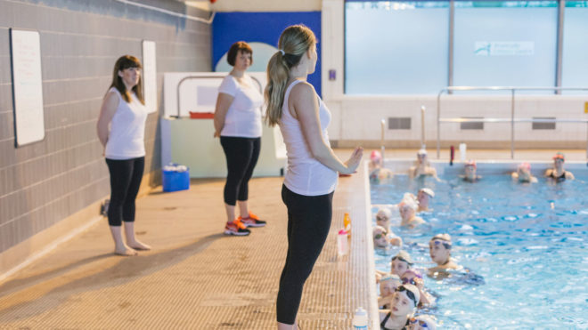 Sarah's story: From volunteer to swimming teacher