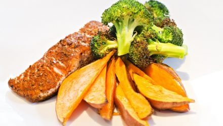 Recipe: Cajun Salmon with Sweet Potato Wedges