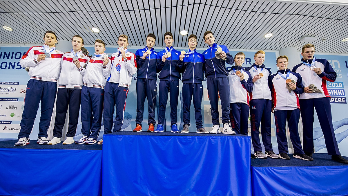 The Men's 4x200 Freestyle Relay team claimed bronze at the European Junior Swimming Championships 2018