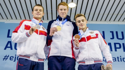 Tom Dean sets record on way to European Junior Swimming Championship gold