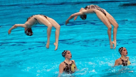 Synchro swimmers enjoy most successful world junior championships