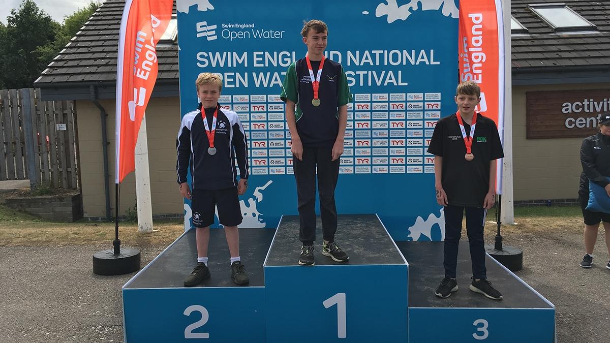 National Open Water Festival Boys 12 Years 2K medallists