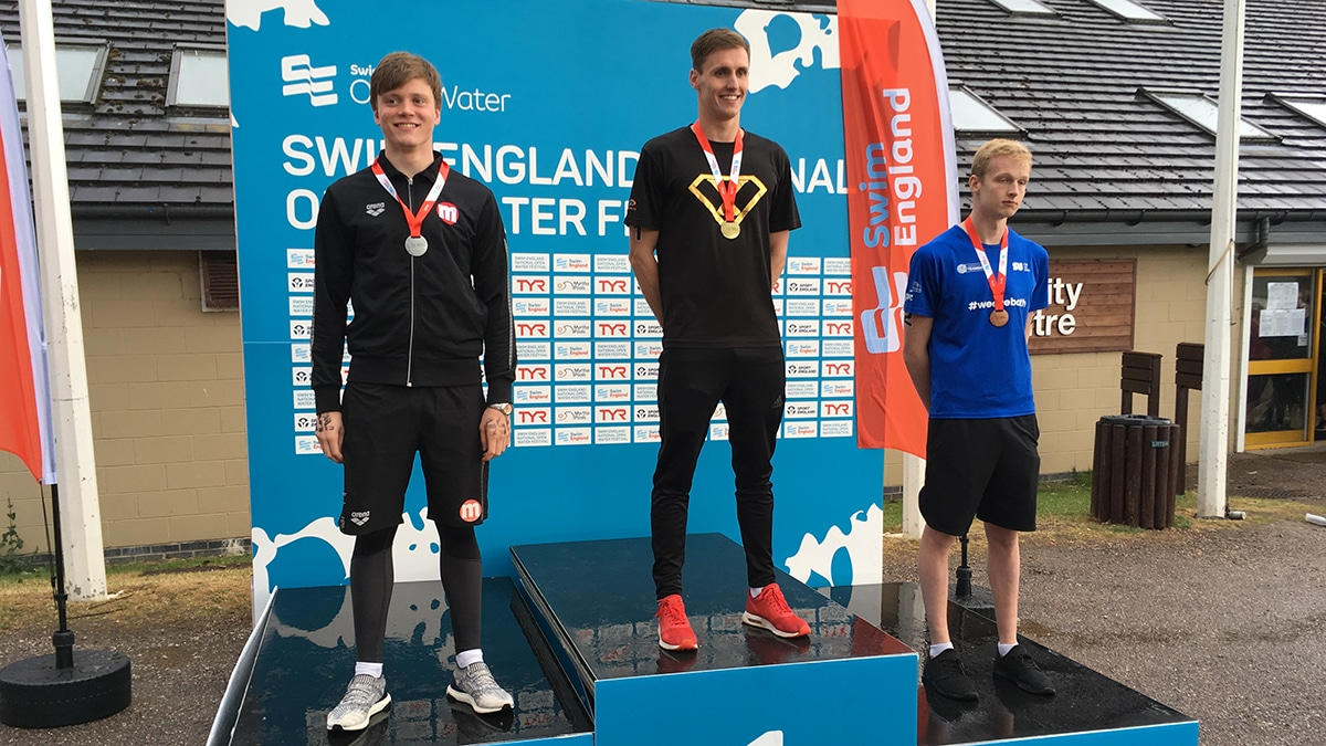 National Open Water Festival Boys 19 Years and over 5K race medallists