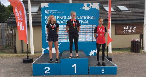 National Open Water Festival Girls 16 Years 5K medallists