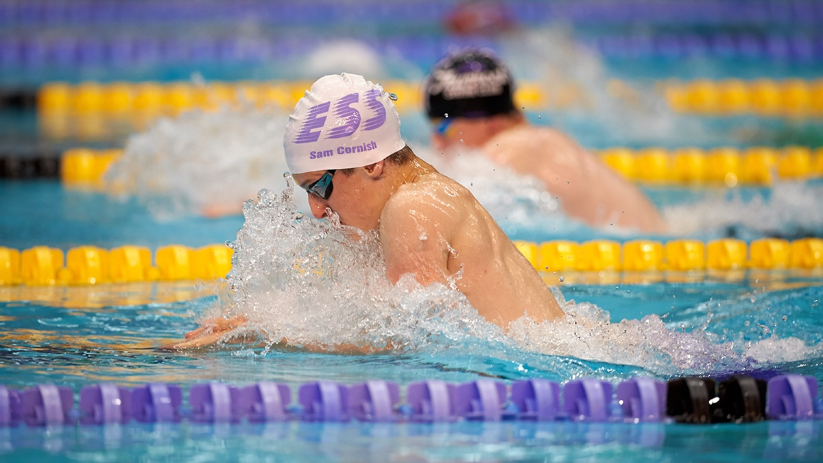 Sam Cornish won a silver medal in the Men's 12-13 Years 100m Breaststroke