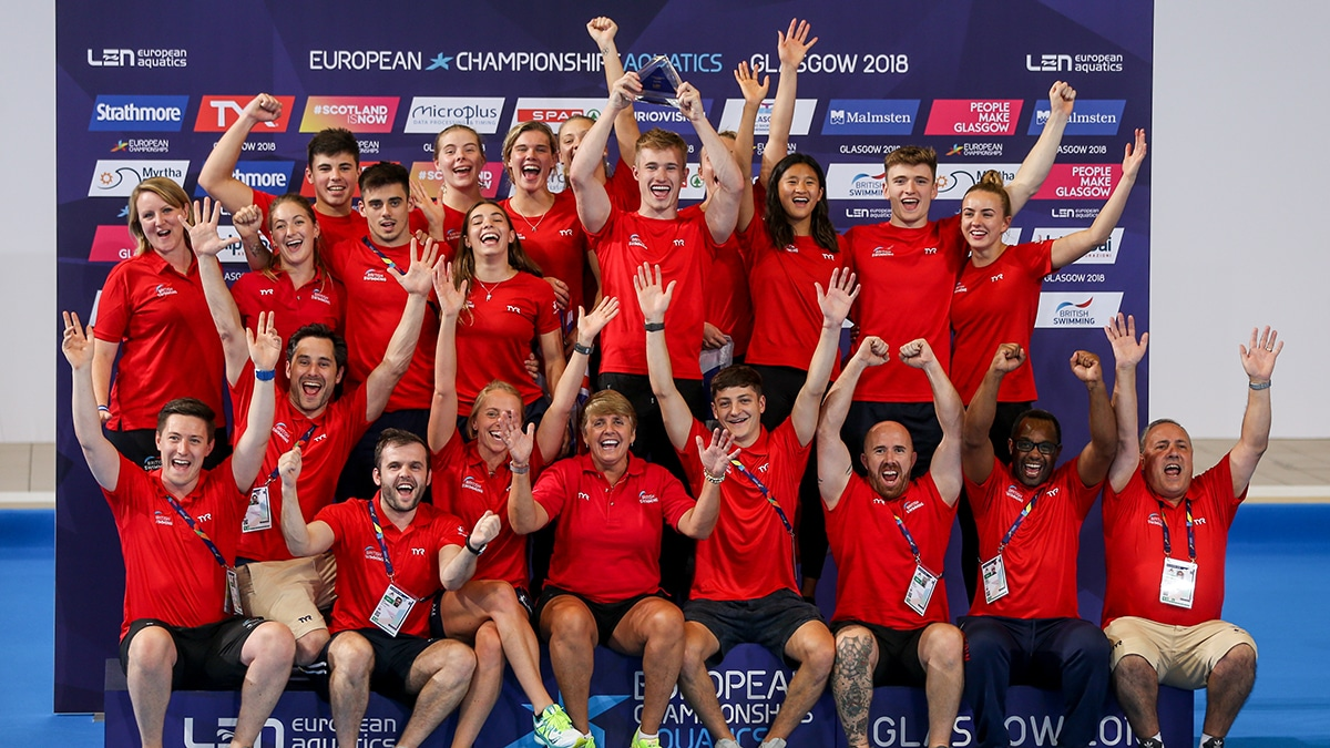 Britain's divers win European Championships trophy