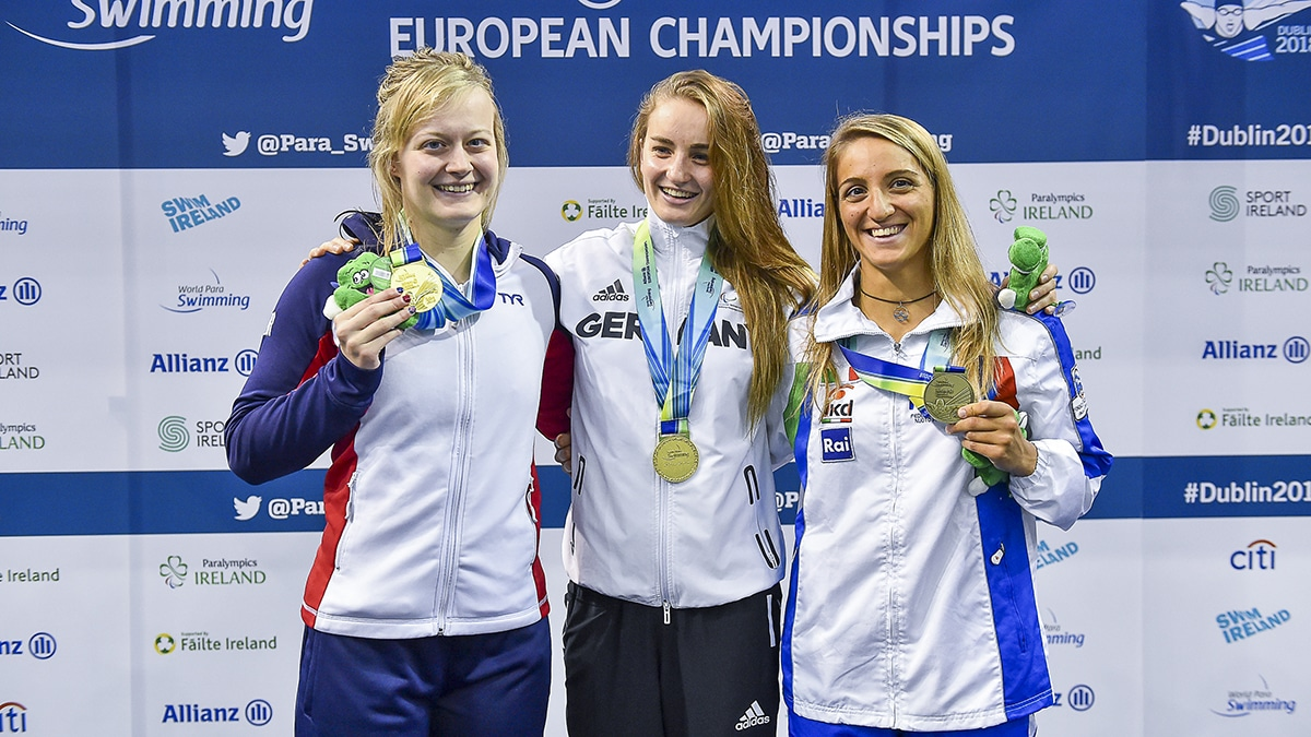 Hannah Russell won gold in a dead heat in the S12 50m Freestyle at the World Para-swimming European Championships 2018 in Dublin