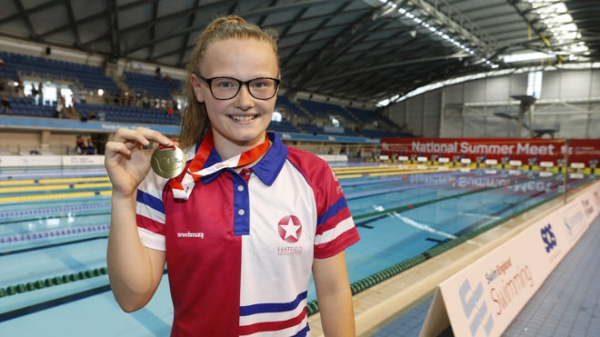 Jessica grabs gold in thrilling 50m Butterfly final finish