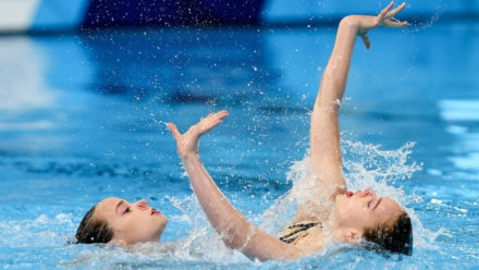 Great Britain's synchronised swimming stars bid to qualify for Tokyo 2020