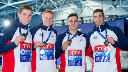 Guy and Dean help GB to 4x200m Freestyle gold
