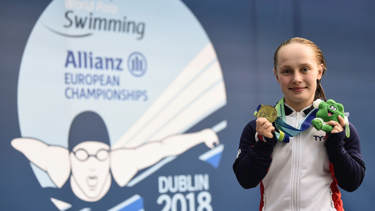 Robinson with medal at World Para Swimming Allianz European Championships 2018