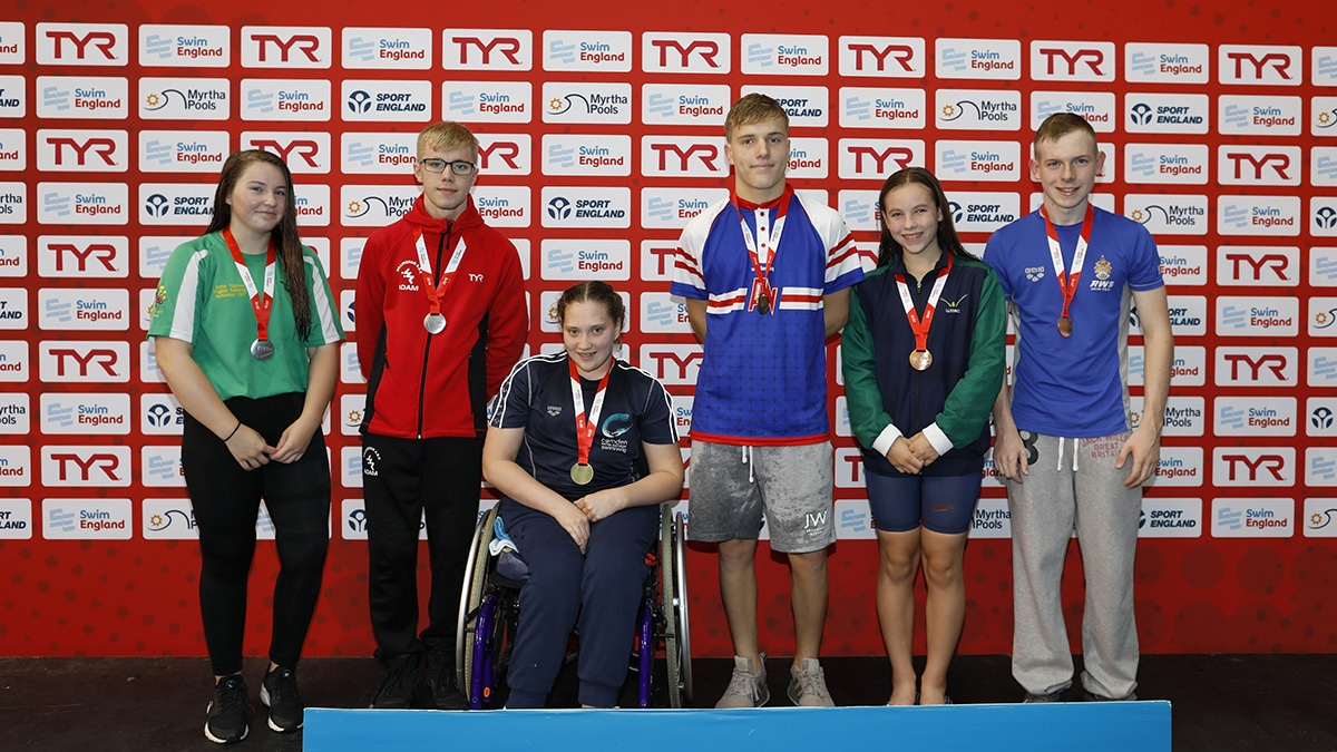 Swim England National Summer Meet medal presentation