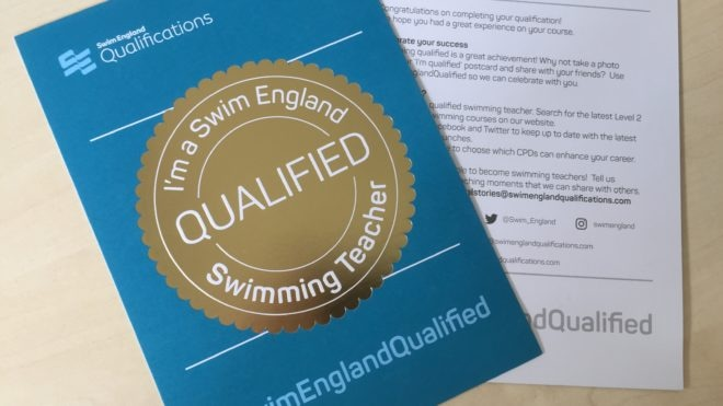 Let the world know you are #SwimEnglandQualified